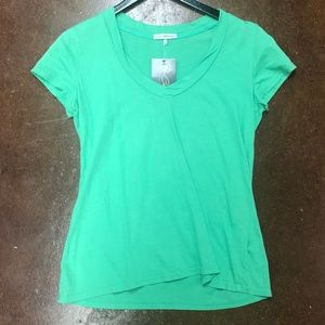 James Perse Mint Green V-Neck Tee